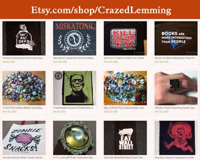 Crazed Lemming Shop on Etsy